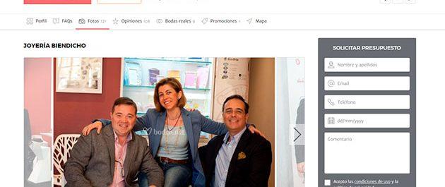 Joyería Biendicho en bodas.net